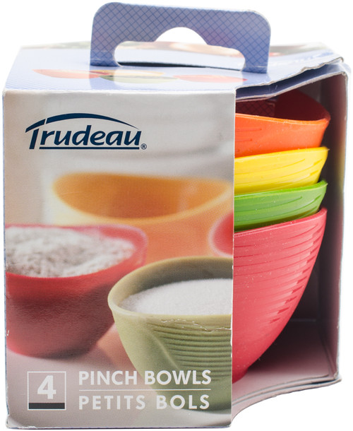 Silicone Pinch Grip Bowls Set Of 4-Red, Green, Yellow & Orange -0990059 - 063562540025