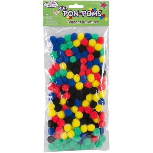 "Mini Pom-Poms .5"" 150/Pkg-Primary -KC208-A - 775749149951"