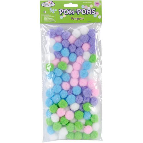 "Pom-Poms .75"" 100/Pkg-Pastel -KC209-B - 775749149982"