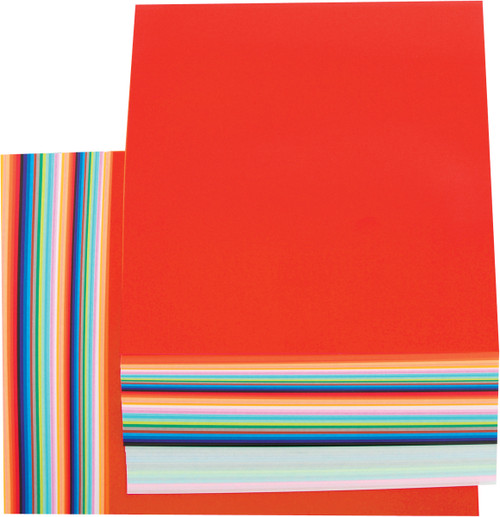 """Fold 'Ems Solid Origami Papers 6.75"""" 100/Pkg-20 Colors/5 Each -4252"""