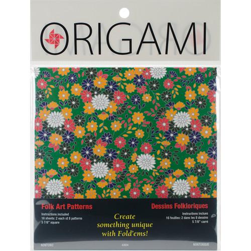 """Fold 'Ems Origami Paper 5.875"""" 16/Pkg-Folk Art -4304 - 031248506344"""