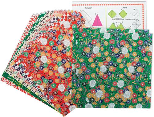 """Fold 'Ems Origami Paper 5.875"""" 16/Pkg-Folk Art -4304"""