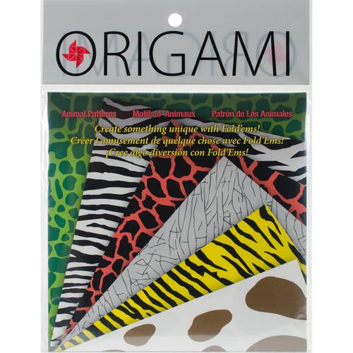 "Fold 'Ems Origami Paper 5.875"" 24/Pkg-Animal -4305 - 031248506351"