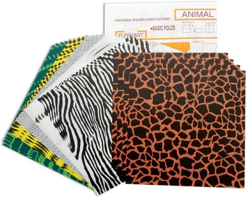 "Fold 'Ems Origami Paper 5.875"" 24/Pkg-Animal -4305"