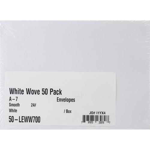 "Leader A7 Envelopes (5.25""X7.25"") 50/Pkg-White -A750 - 797075230707"