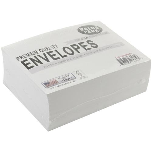 "Leader A6 Envelopes (4.75""X6.5"") 100/Pkg-White -A6100"