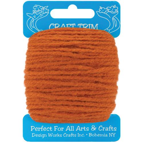 Design Works Craft Yarn 20yd-Brown -100-20 - 021465100203