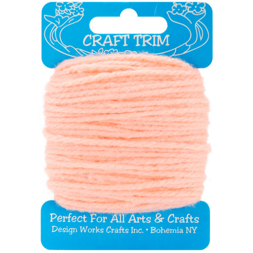 Design Works Craft Yarn 20yd-Peach -100-09 - 021465100098