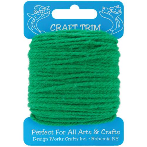 Design Works Craft Yarn 20yd-Green -100-32 - 021465100326