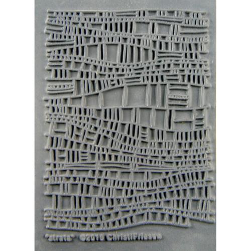 """Christi Friesen Texture Stamp 4.25""""X5.5""""-Strata -CF6-768"""