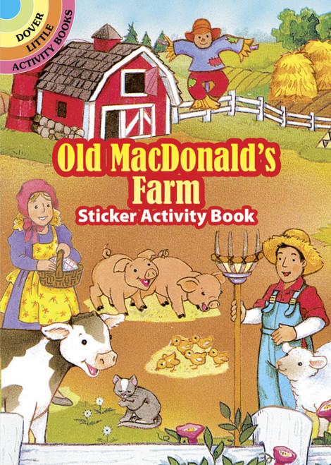 Dover Publications-Old Macdonald's Farm Stkr Actv Bk -DOV-29409 - 8007592940919780486294094