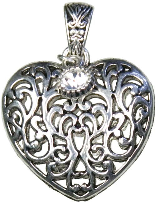 Jewelry Basics Metal Accent 1/Pkg-Heart Scroll -JBMA1-8047