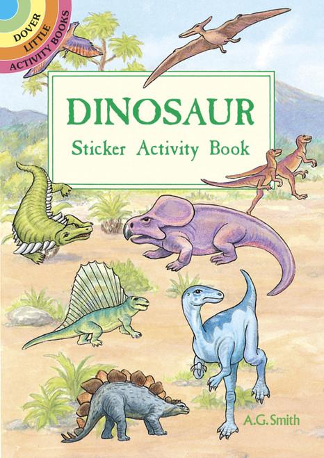 Dover Publications-Dinosaur Sticker Activity Book -DOV-40053 - 8007594005399780486400532