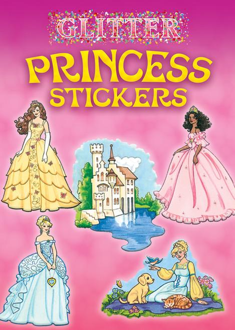 Dover Publications-Glitter Princess Stickers -DOV-46577 - 8007594657749780486465777