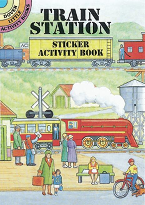 Dover Publications-Train Station Sticker Activity Book -DOV-40512 - 8007594051219780486405124
