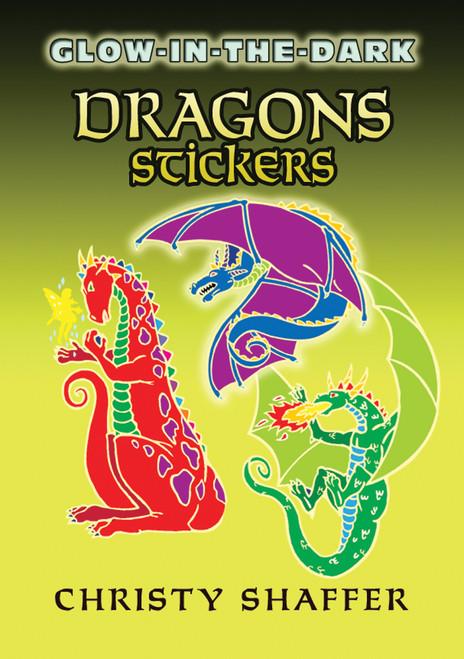 Dover Publications-Glow-In-The-Dark Dragon Stickers -DOV-46213 - 8007594621319780486462134