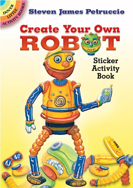 Dover Publications-CYO Robot Sticker Activity Book -DOV-44878 - 8007594487849780486448787