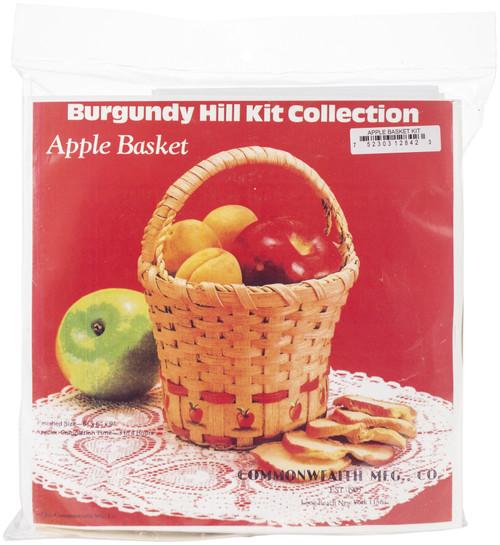 "Burgundy Hill Basket Kit-Apple Basket 6""X6""X9"" -12800-12842 - 752303128423"