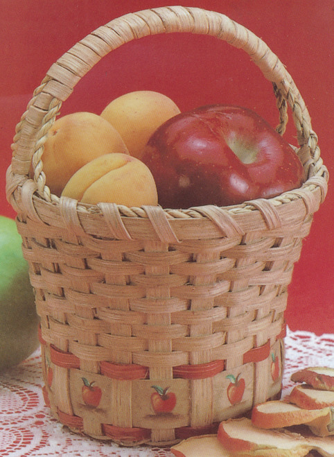 "Burgundy Hill Basket Kit-Apple Basket 6""X6""X9"" -12800-12842"