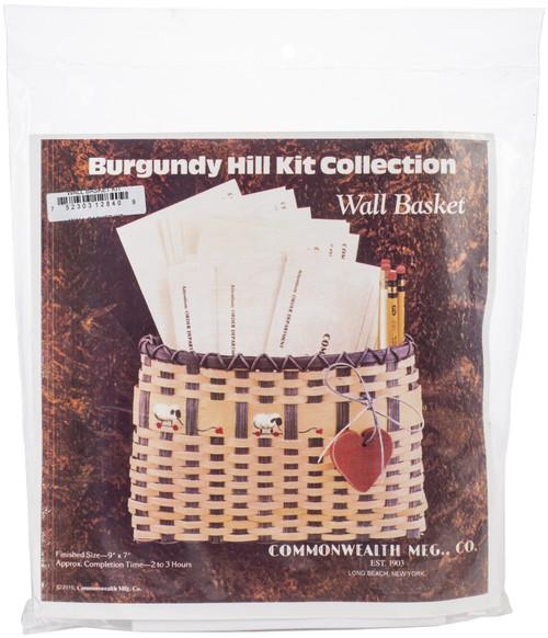 "Burgundy Hill Basket Kit-Wall Basket 9""X7"" -12800-12840 - 752303128409"