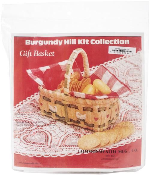 "Burgundy Hill Basket Kit-Gift Basket 3.5""X6.5""X3"" -12800-12848 - 752303128485"