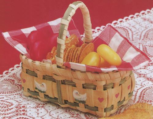 "Burgundy Hill Basket Kit-Gift Basket 3.5""X6.5""X3"" -12800-12848"