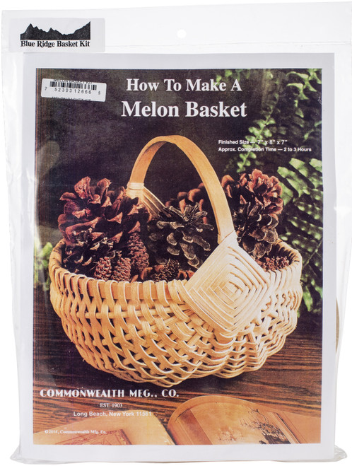 """Blue Ridge Basket Kits-Melon Basket 8""""X9""""X8"""" -12666 - 752303126665"""
