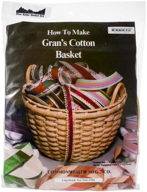 """Blue Ridge Basket Kits-Grans Cotton Basket 9.5""""X7"""" -12648 - 752303126481"""