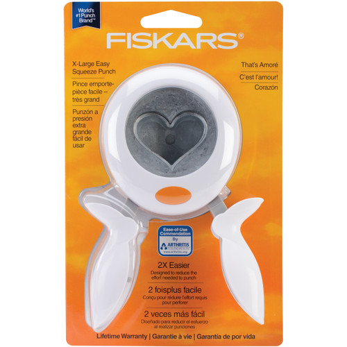 """Fiskars Squeeze Punch X-Large-Heart, 2"""" -SQXL-1741 - 078484074190"""