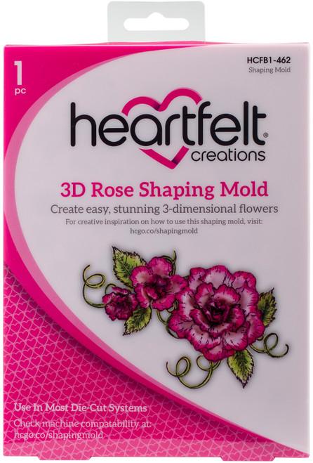 Heartfelt Creations Shaping Mold-3D Rose -HCFB1-462 - 817550020965