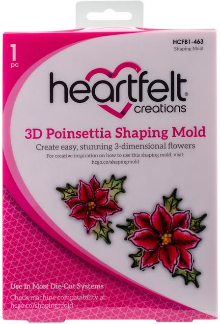 Heartfelt Creations Shaping Mold-3D Poinsettia -HCFB1-463 - 817550020972