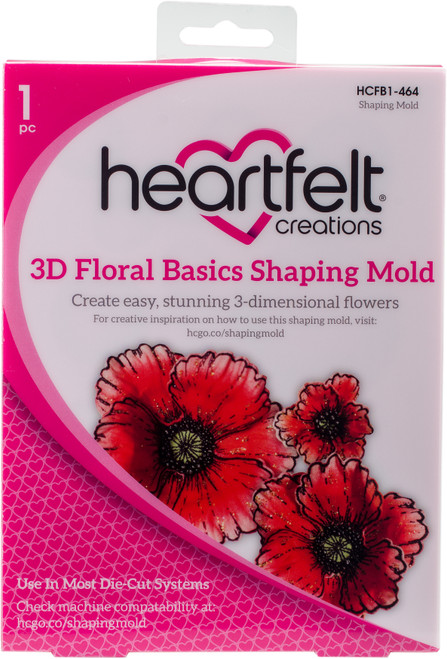 Heartfelt Creations Shaping Mold-3D Floral Basics -HCFB1-464 - 817550020989