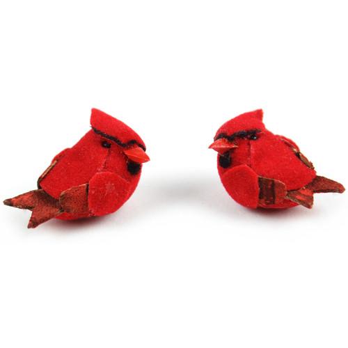 """Mushroom Birds 1"""" 2/Pkg-Cardinals -MD20023"""