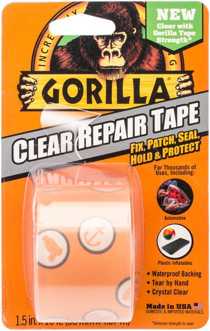 """Gorilla Glue Repair Tape 1.5""""X15'-Clear -6015002 - 052427601506"""
