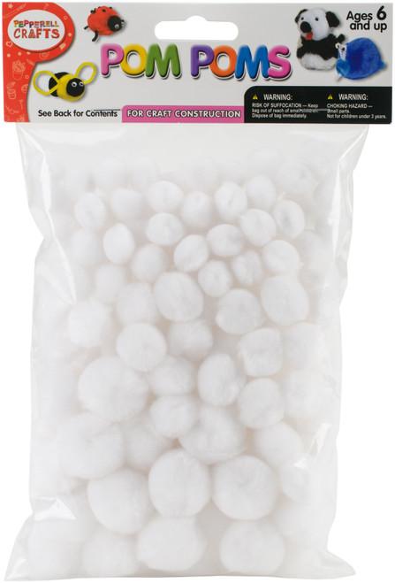 Pom-Pom Puffs Assorted 100/Pkg-White -PM100-1 - 725879818227