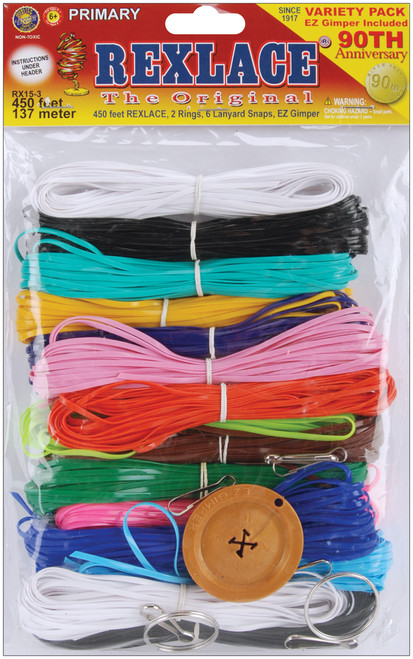 Rexlace Plastic Lacing Variety Pack-Primary -RX-153 - 725879202750