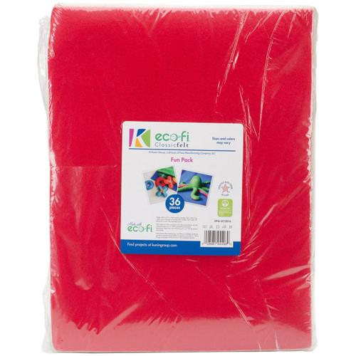 "Felt Fun Pack 9""X12""-Assorted Colors -K450Z93P - 028981944960"