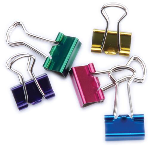 "Mini Binder Clips .5"" 12/Pkg-Assorted Colors -29710"