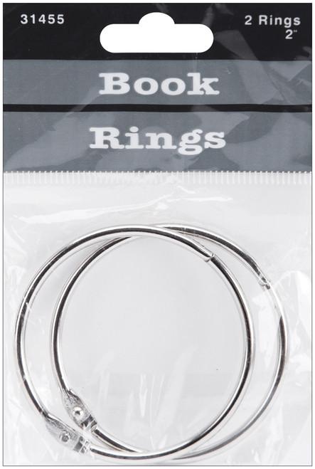 "Book Rings 2"" 2/Pkg-Silver -31455 - 085288314551"
