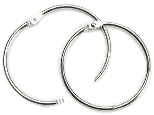 "Book Rings 2"" 2/Pkg-Silver -31455"