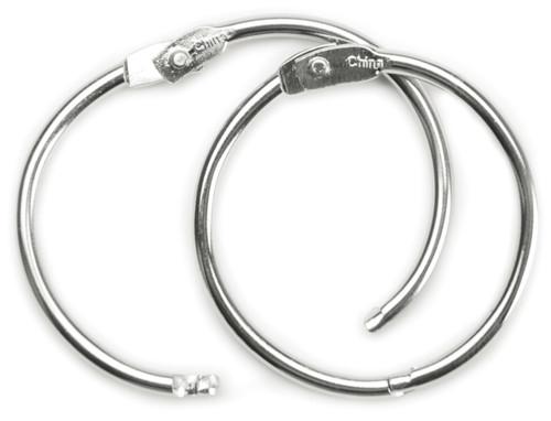 "Book Rings 1.5"" 3/Pkg-Silver -31445"
