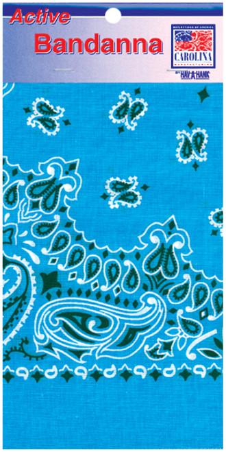 "Hav-A-Hank Paisley Bandanna 22""X22""-Light Blue -B22PAI-06 - 070685100067"
