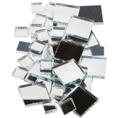 Mirrored Glass Tiles 100/Pkg-Square -MIRSQU