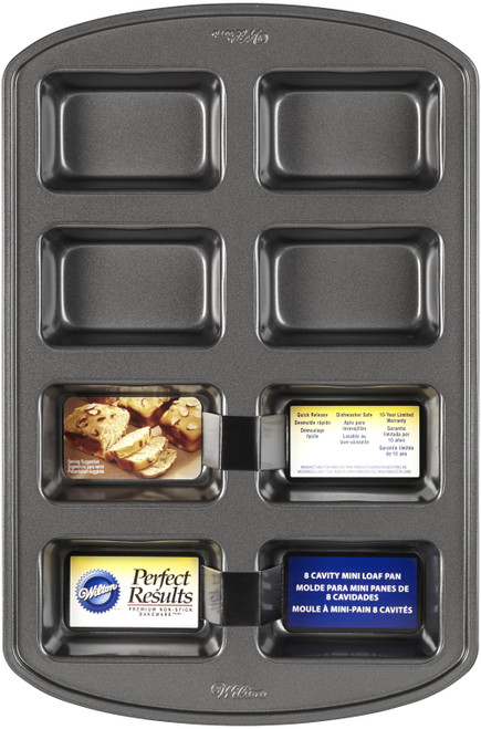"Perfect Results Mini Loaf Pan-8 Cavity 3.8""X2.5"" -W3972 - 070896539724"