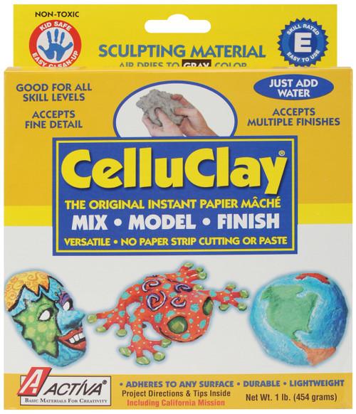 CelluClay Instant Paper-Mache 1lb-Gray -100A - 036061001007