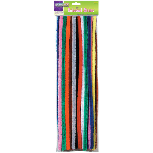 """Colossal Stems 15mmX19.5"""" 50/Pkg-Assorted Colors -7180-01 - 021196718012"""
