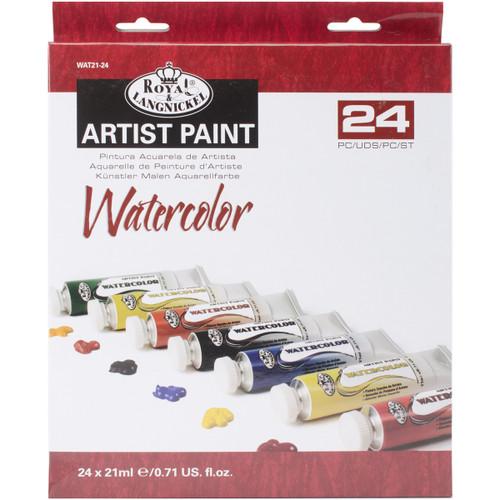 Watercolor Paints 21ml 24/Pkg-Assorted Colors -WAT21-24 - 090672065544