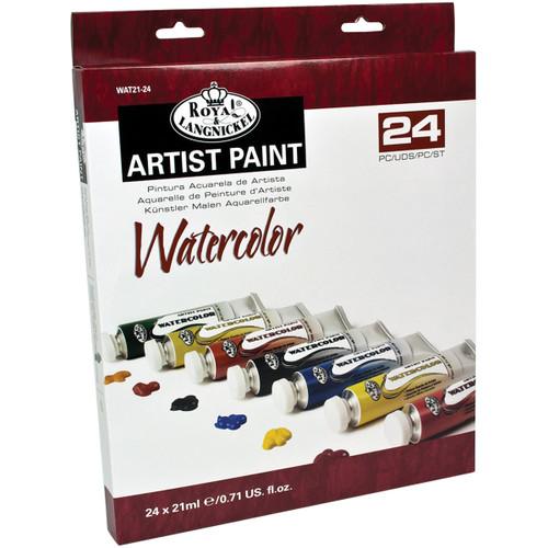 Watercolor Paints 21ml 24/Pkg-Assorted Colors -WAT21-24