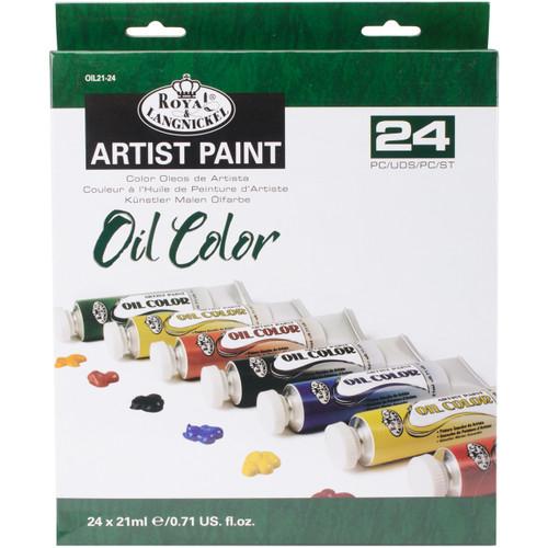 Oil Paints 21ml 24/Pkg-Assorted Colors -OIL21-24 - 090672065513