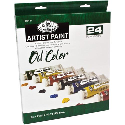 Oil Paints 21ml 24/Pkg-Assorted Colors -OIL21-24
